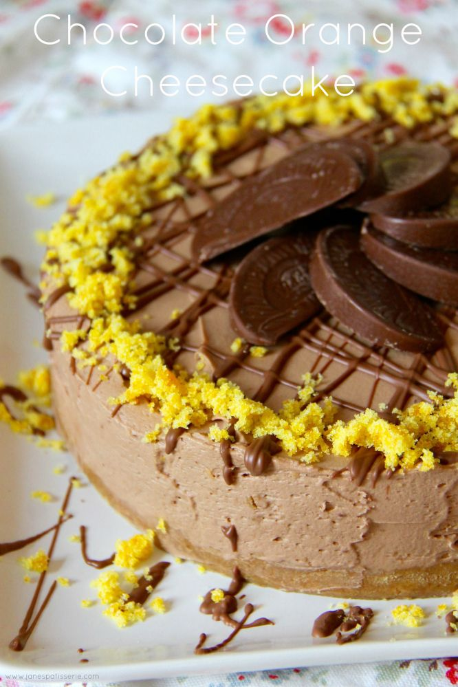 NO-BAKE CHOCOLATE ORANGE CHEESECAKE - Deliciously creamy Chocolate Orange Cheesecake perfect for Dessert and an Afternoon Treat!