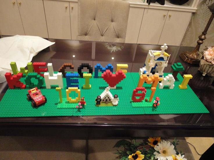 レゴ ウェルカムボード