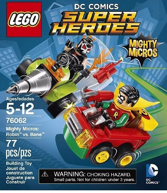 LEGO DC Comics Super Heroes Mighty Micros Robin Vs Bane Driller / Car 76062 NEW  | eBay