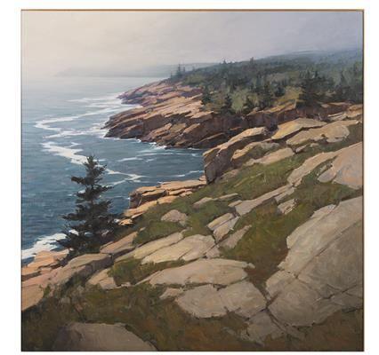 """Coast of Acadia,"" Michael Karas, 1995, oil on board, Bank of America Corporation."