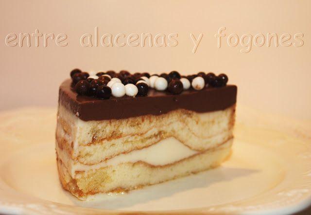 Entre alacenas y fogones...: Tarta rápida de chocolate blanco