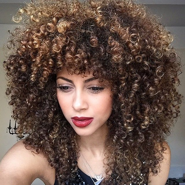 What happens when I use a denman brush. #poodlepower. Don't like it for entire head of hair?...just use it for your bangs. POPPIN!