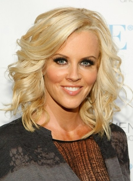 jenny mccarthy medium curly bob hairstyle 2012 for mature women cool