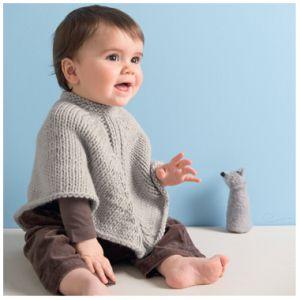poncho per bimbi e gilet per ragazzina-spiegazioni in italiano - la maglia di marica