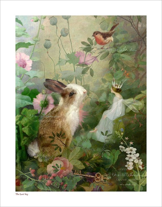 Fairies Art Photography' The Lost Key'  MOUNTED -  print only - signed and titled  By Charlotte Bird