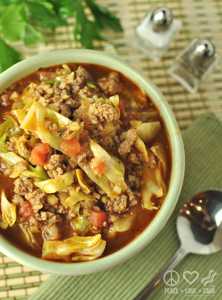 Cabbage Roll Soup - Low Carb, Gluten Free | Peace Love and Low Carb
