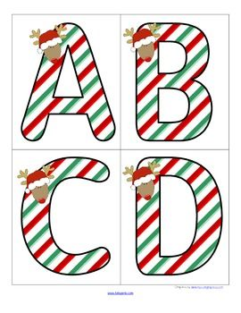 Christmas Theme - Set of Large Alphabet Letters - FREE