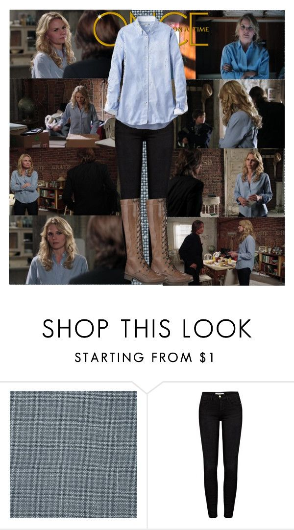 """""""OUAT~Emma Swan~1x04~The Price of Gold"""" by tvshowobsessed ❤ liked on Polyvore featuring Once Upon a Time, Frame Denim and Uniqlo"""