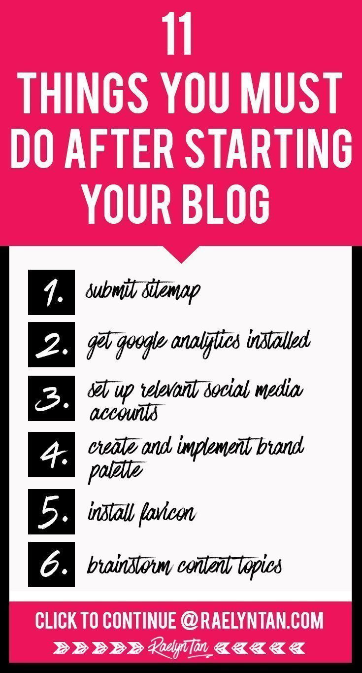 11 Things To Do Immediately After You Start a New Blog – Resources for Entrepreneurs and Bloggers