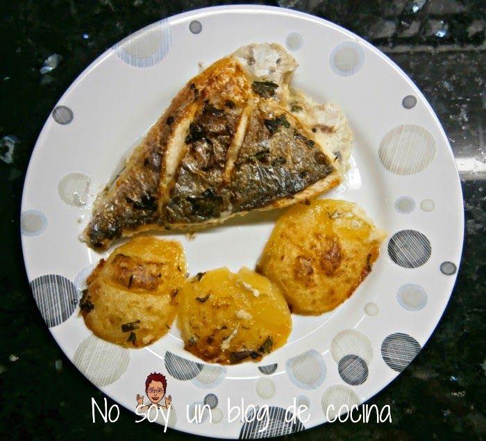 No soy un blog de cocina pescado hecho con salsa for Como cocinar pescado al horno