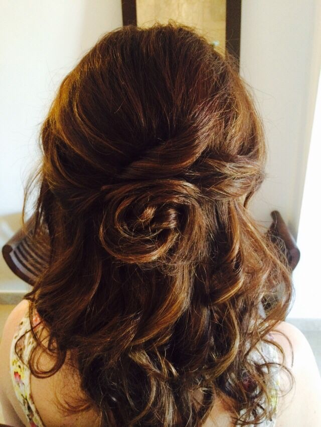 Luv this look; has height and a balance of soft curls that courteously cover the bobby pins.