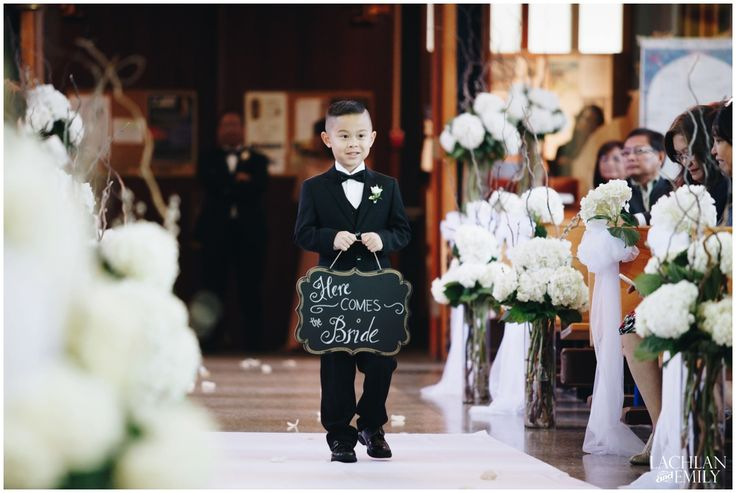 Here comes the Bride! Adorable Ring Bearer