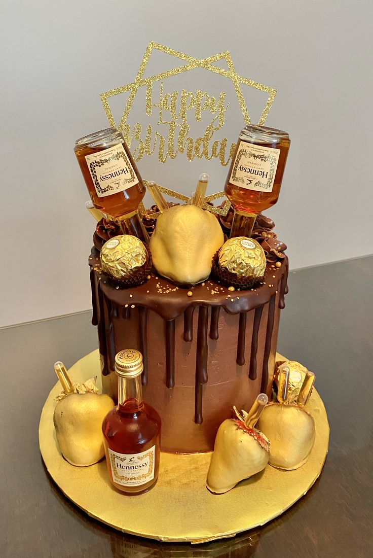 Hennessy Cake in 2020 Hennessy cake, Cake, Desserts