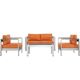 Shore 4-piece Outdoor Patio Aluminum Sectional Sofa Set | Overstock.com Shopping - The Best Deals on Sofas, Chairs & Sectionals