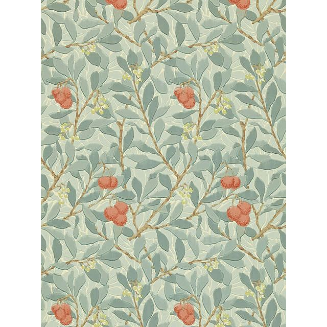 BuyMorris & Co Arbutus Wallpaper, Blue / Pink, DMCW210407 Online at johnlewis.com