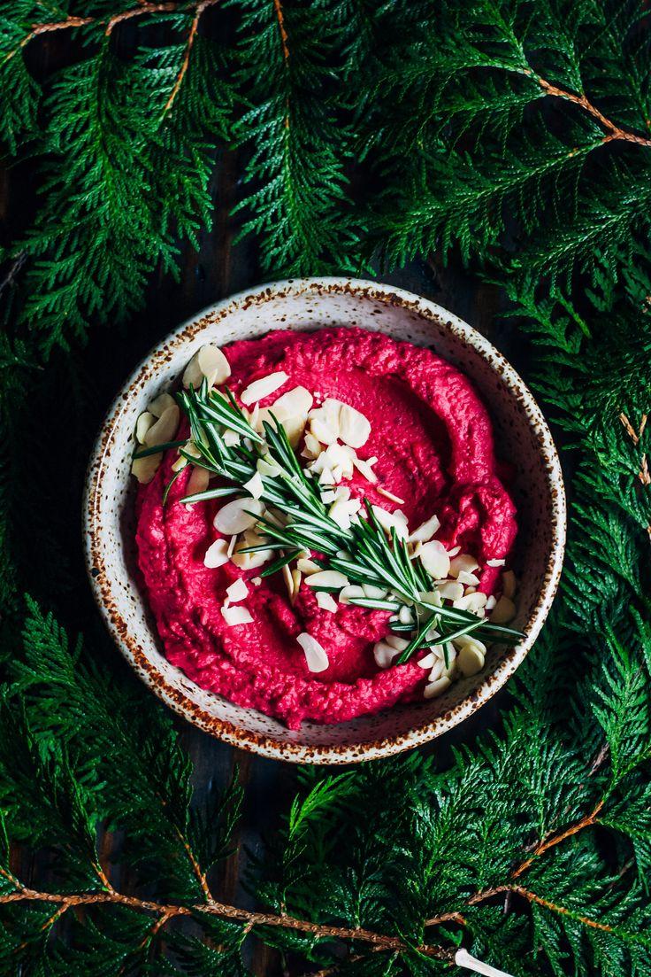 Winter Beet Hummus | Well and Full | #beet #hummus #vegan