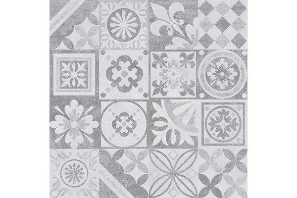 Płytka Podłogowa Estra Grafit Dekor Lappato 60x60 Ceramika Limone - Viverto