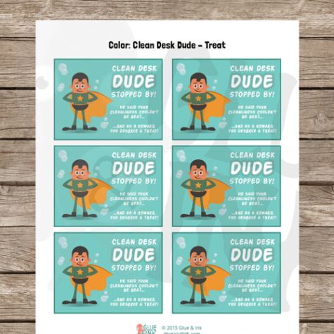 Desk Fairy & Clean Desk Dude Reward Cards - 5