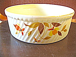 Vintage Hall Jewel Tea Autumn Leaf Baking Dish. Click on the image for more information.