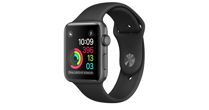 Shop Apple Watch Series 2 featuring built-in GPS in a 42mm Space Grey Aluminium…