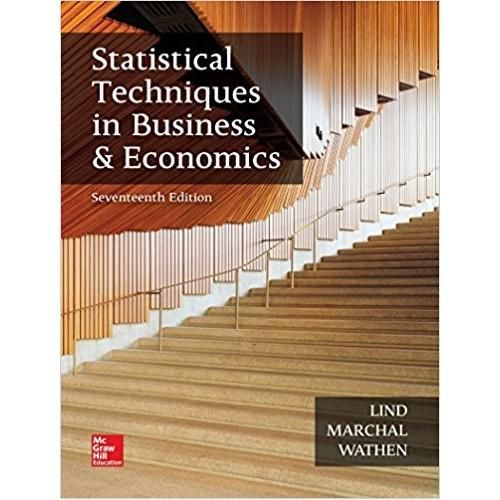 Statistical Techniques In Business And Economics 17th