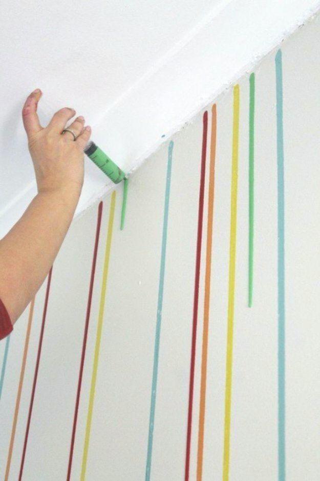 Verniciare Carta Da Parati.34 Modi Freddi Per Dipingere I Muri Pittura Pareti Decorazioni Muro Idee
