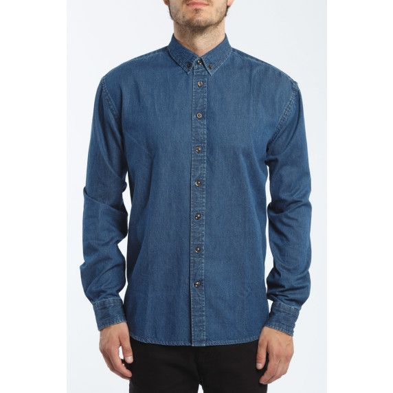 Kronstadt overhemd. Dit mooie denim overhemd is onderdeel van onze collectie Kronstadt overhemden.