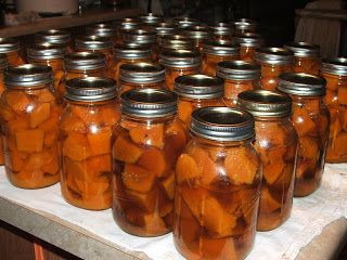 Canning Granny: Canning Sweet Potatoes (either in just plain water, or in a brown sugar syrup, both are pictured)