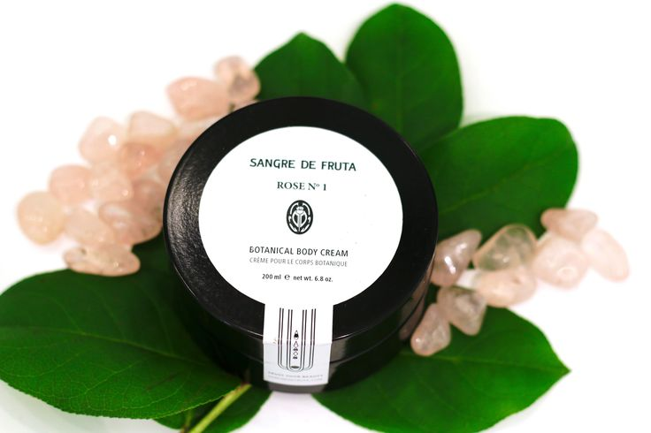 """This collection of botanical face and body care products are inspired by ancient Egyptian and Greek beauty regimens. Sangre de Fruta means """"blood of fruit"""", fruit blood – the translation for us represents the essence of fruit, the unknown essence that is at the heart of all things fragrant, beautiful, edible, enjoyable… that mystic element of how and why nature is just so powerful."""