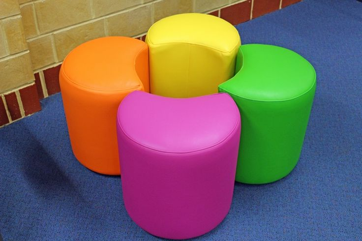 Kink ottoman allow the children to have flexible seating anywhere in the library.