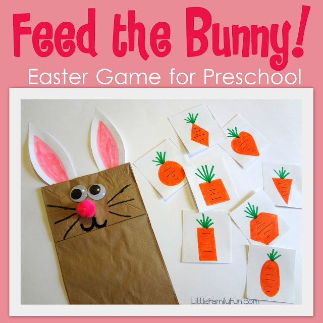 Feed The Bunny! Easter Game for #Children. (pinned by Super Simple Songs) #educational #resources