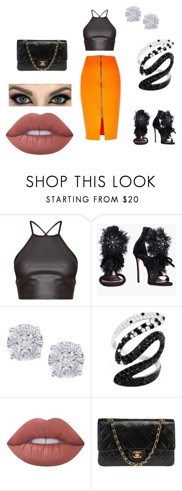 """""""...."""" by kkristinss on Polyvore featuring Dsquared2, Effy Jewelry, Lime Crime and Chanel"""