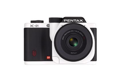Pentax K-01 Lens Kit with DA 40mm XS White | Designer: Marc Newson | $900Pentax K 01, Pentax K01, Marc Newson, 40Mm Lens, System Cameras, Digital Cameras, Mirrorless Cameras, K 01 16Mp, Compact System