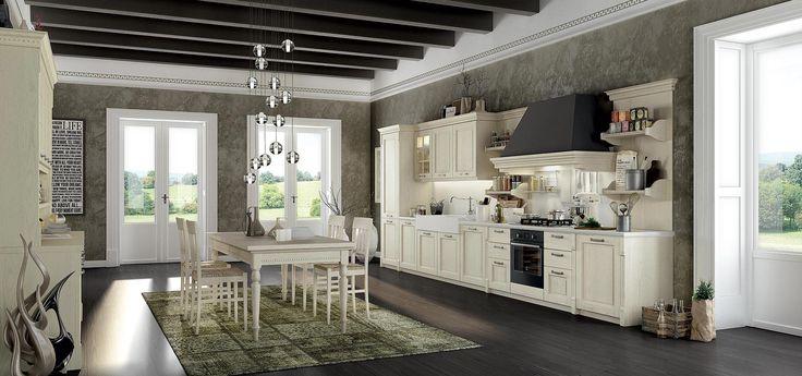 cucina classica elegante : nostra cucina classica componibile accogliente, funzionale ed elegante ...
