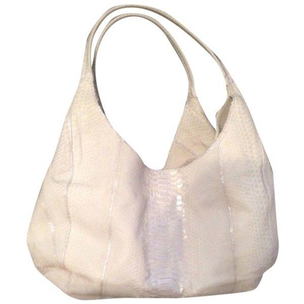 Pre-owned Nancy Gonzalez Hobo Bag ($430) ❤ liked on Polyvore featuring bags, handbags, shoulder bags, silver white pale celery, snake skin purse, hobo handbags, silver handbag, white hobo handbags and nancy gonzalez handbags