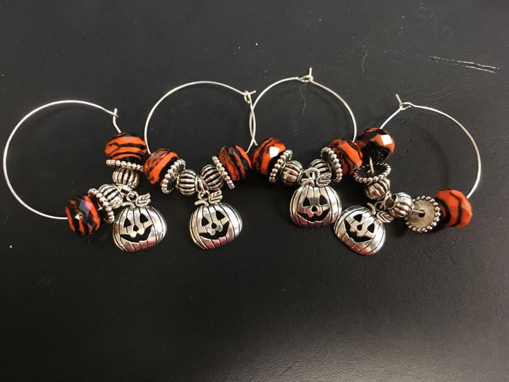 A personal favorite from my Etsy shop https://www.etsy.com/listing/482109131/halloween-themed-wine-charms