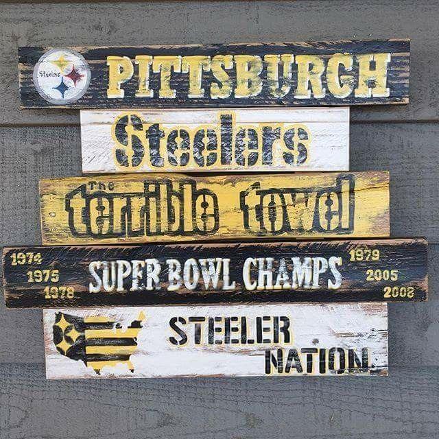 15 best steelersnation signs images on pinterest pittsburgh steelers steeler nation and for Pittsburgh steelers bedroom slippers