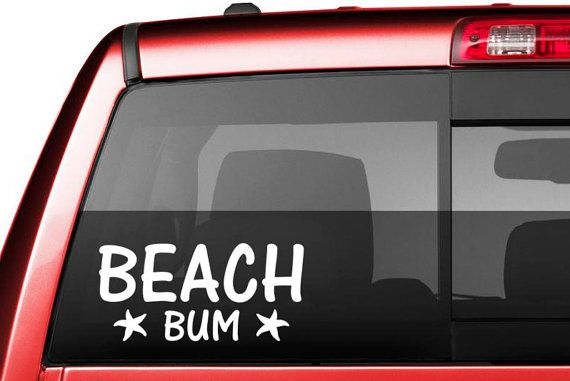 Beach bum decals star fish beach decal laptop by hottopicdecals
