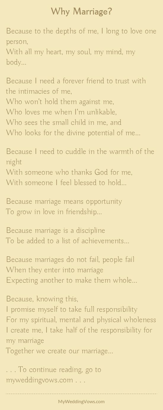 25 Best Ideas About Marriage Poems On Pinterest