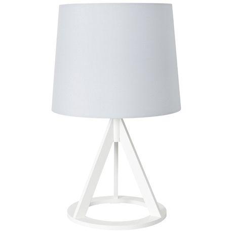 Mason Table Lamp White Base Grey Shade