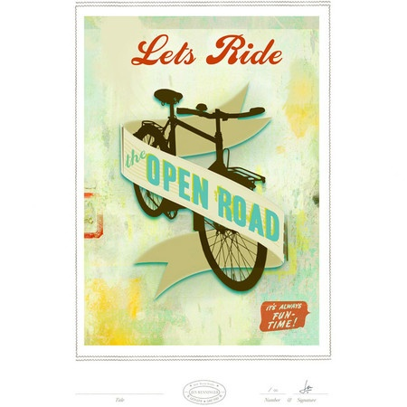 Let's Ride the Open Road Print I