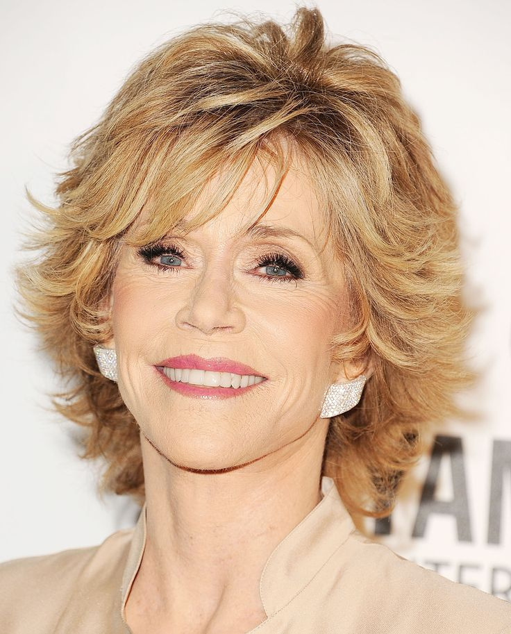 Want to go short? Try Fonda's modern take on the shag. To snag this look, ask your stylist to cut choppy layers from front to back with shorter layers framing your face. Style the layers flipped at the ends with molding gel to create the texture that makes this crop pop.  - GoodHousekeeping.com