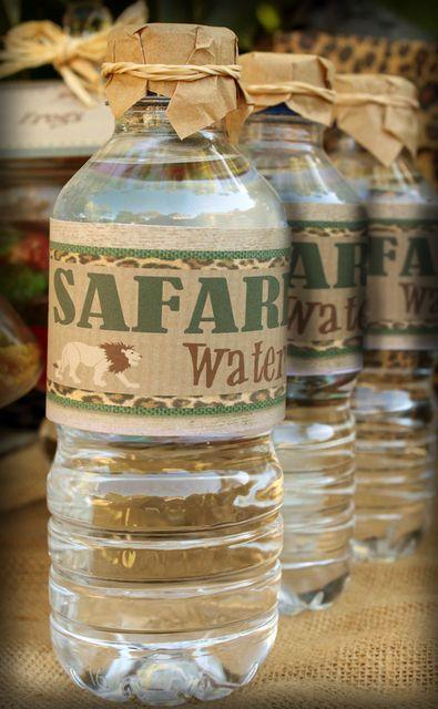 Água Mineral tema safari.