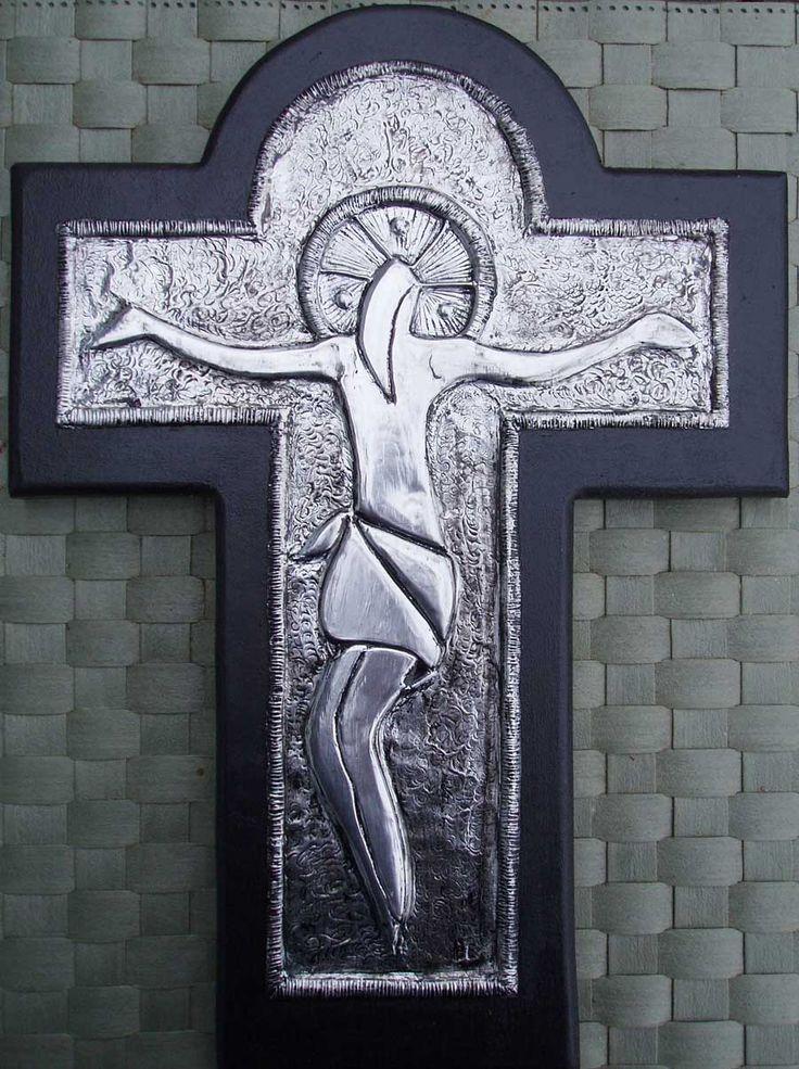JESUS PÅ KORSET - Aluminum embossing