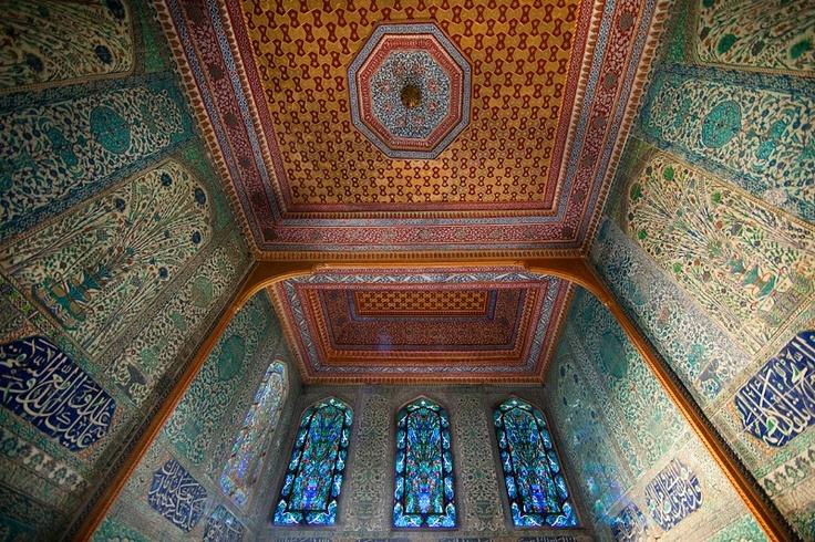the harem chamber, topkapi palace, istanbul, turkey