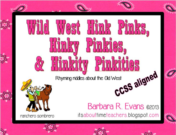 picture about Hink Pinks Printable identify Hink Pinks Phrase Riddles For Intermediate Learners By means of Amanda