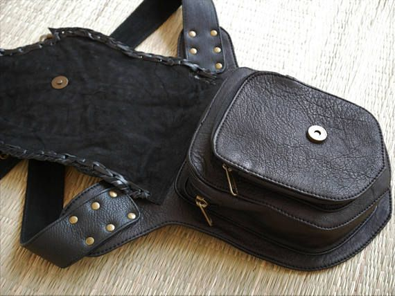 Handmade leather fanny pack - black leather utility belt - goth, steampunk, festival fashion burning man belt Going on a motorbike tour and need the perfect Accessory? Or want to dance through festival nights, with your hands free, but still have all your https://madburner.com