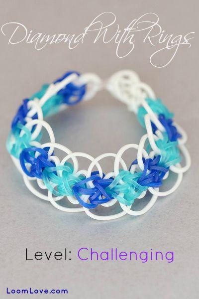 How to Make the Rainbow Loom Diamond with Rings
