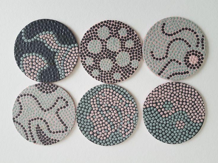 Onderzetters - Handmade -  Dotting Techniek