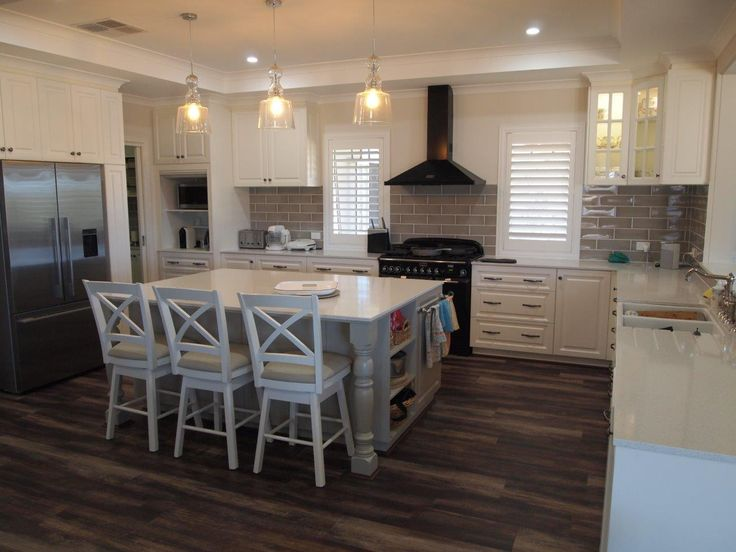 Our client wanted a Hampton style home. This is their kitchen in their new transportable home that we built for them. Who said transportables had to be boring.